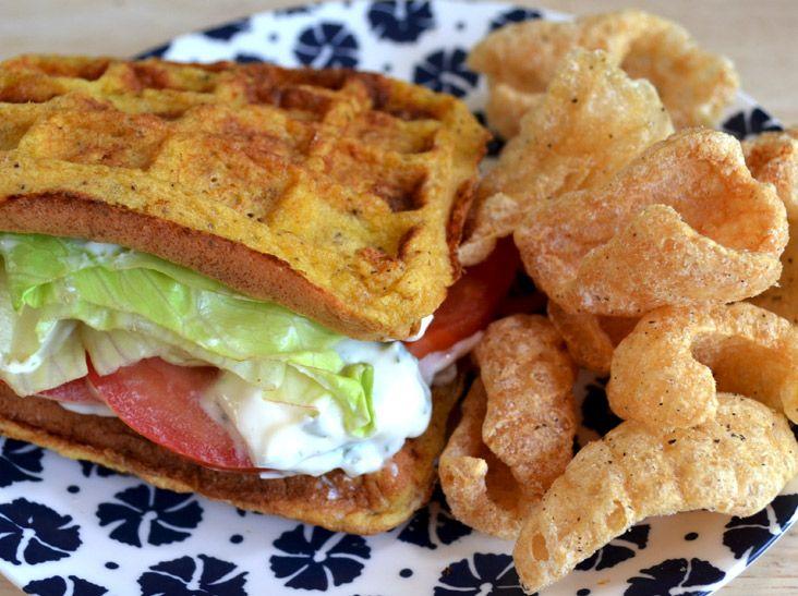 Southern Recipe Pork Rinds - BLT Waffle Sandwich   Pork ...