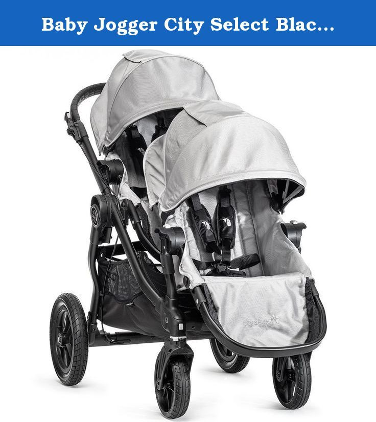 Baby Jogger City Select Black Frame Stroller With 2nd Seat Silver Patented Quick Fold T Joggers Strollers Strollers Accessories Baby Products City