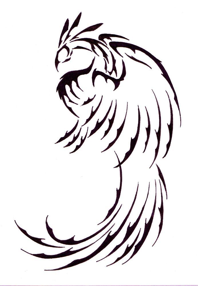 феникс рисунки для тату белокурый