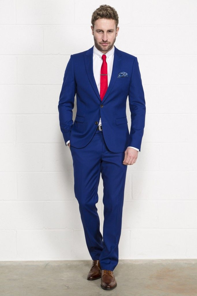 2736a14cbe51 Petrol Blue Three Piece Suit