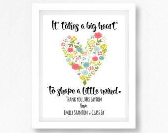 Daycare Teacher Gift End Of Year Teacher By Perfectlittleprints Thank You Teacher Gifts Daycare Teacher Gifts Personalized Teacher Gifts