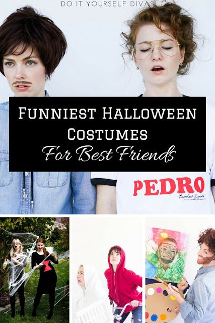 Do it yourself divas funny diy halloween costumes for best friends do it yourself divas funny diy halloween costumes for best friends couples or siblings last minute costume ideas that are cheap or free solutioingenieria Images