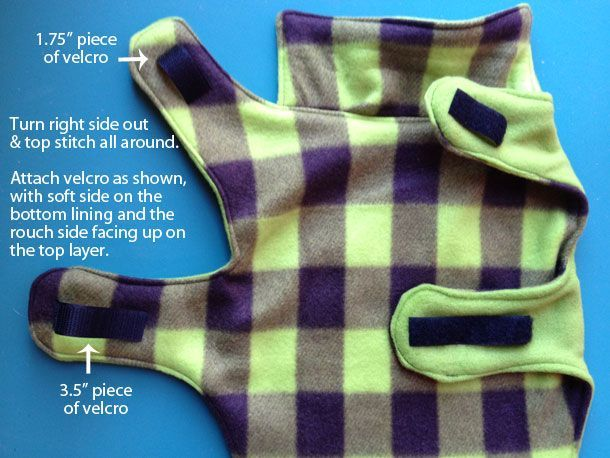 Fleece dog coat pattern a must for mommys with little