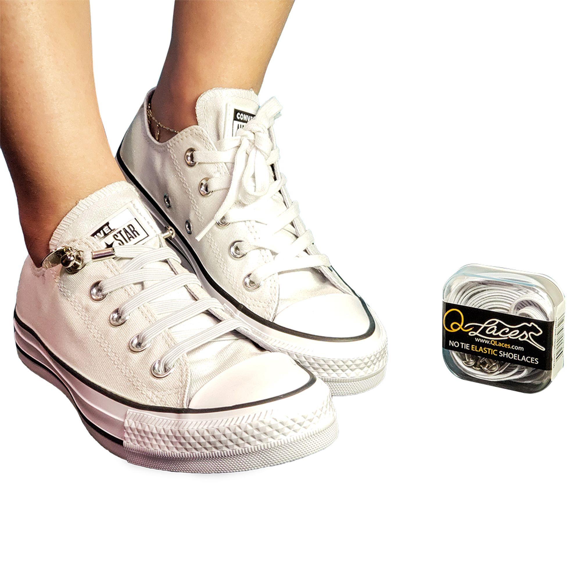Tie shoelaces, Converse high top sneaker
