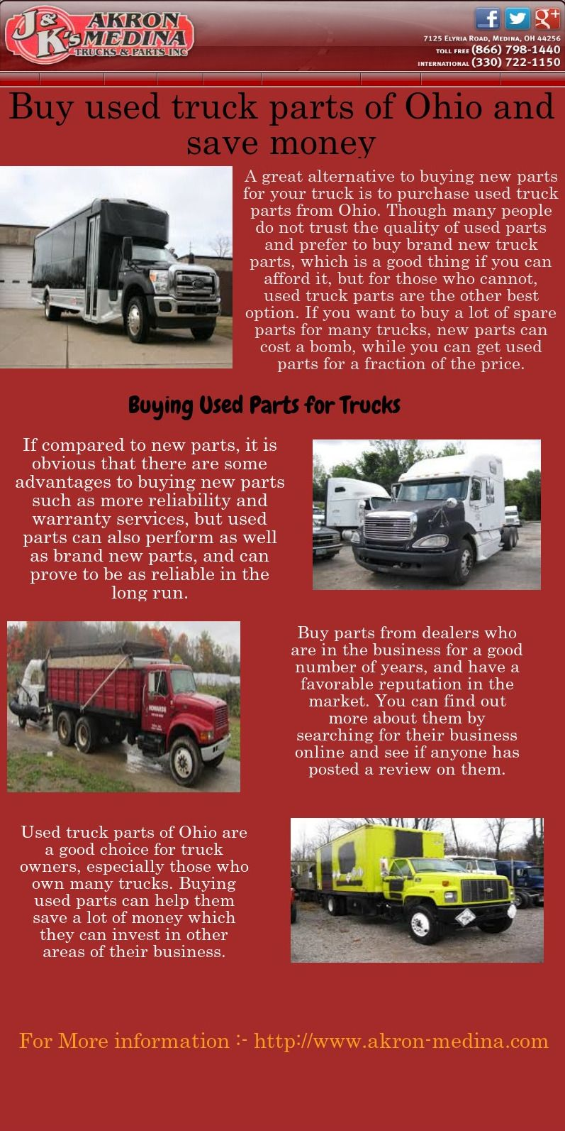 A great alternative to buying new parts for your truck is to ...