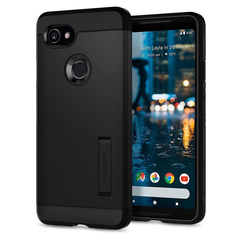 d2d91cc55d5 Spigen Tough Armor Google Pixel 2 XL Case - Black in 2019   Products ...