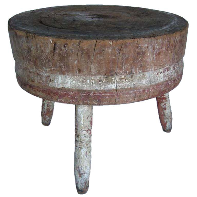 Round Butcher Block Kitchen Table Antique butcher block table butcher block tables block table and antique butcher block table workwithnaturefo