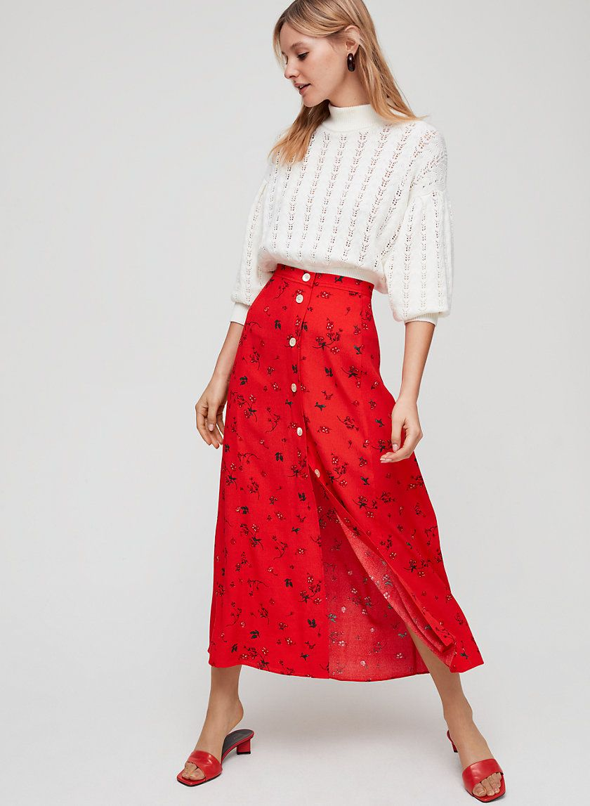 82ce6576278c Wilfred AMELIE SKIRT | Aritzia Button Front Skirt, Amelie, Spring Outfits, Midi  Skirt