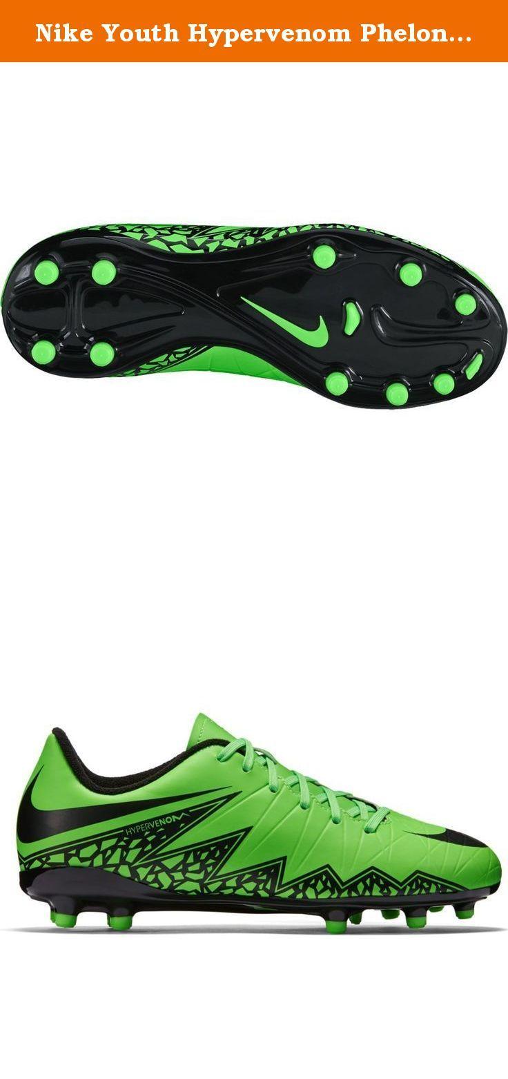 4fc34f736 Nike Youth Hypervenom Phelon II Firm Ground [GREEN STRIKE/BLACK] (4Y ...