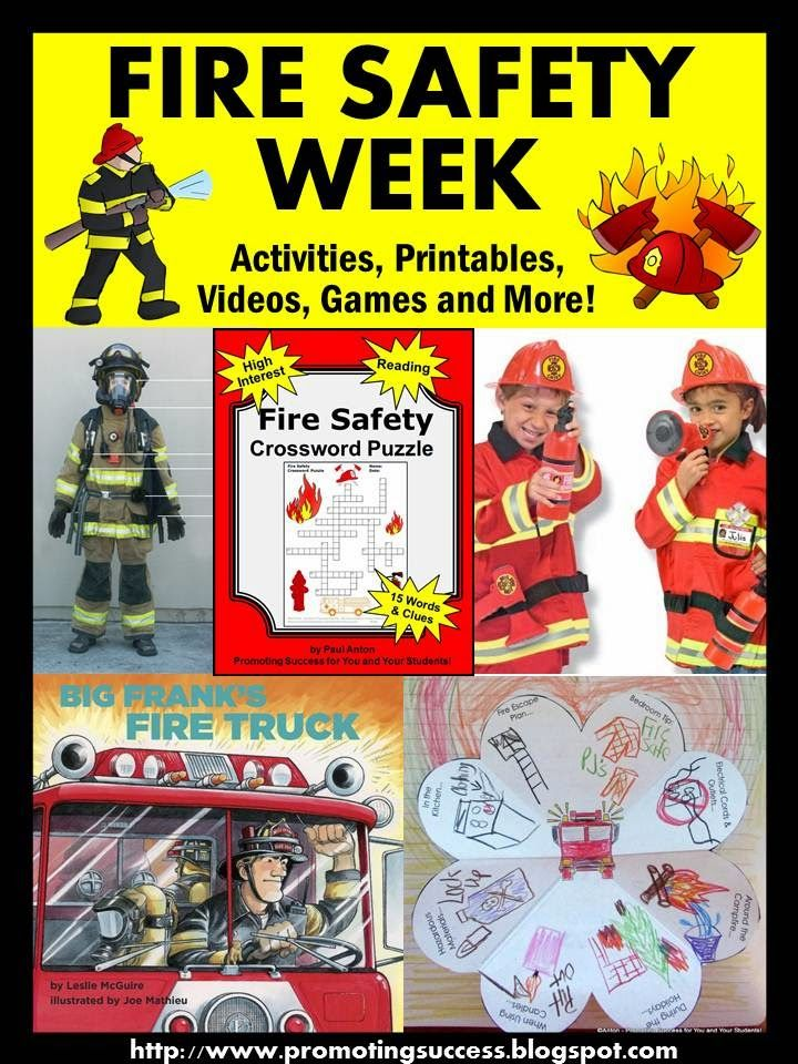 Fire Safety Week Activities for Kids Fire safety, Fire