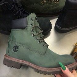 olive green timbs timberland boots