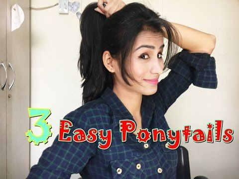 How To Side Puff With Trick And Ponytail Hairstyle Easy Side Puff