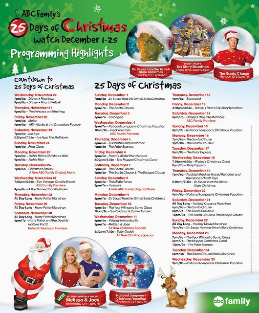 Abc Family S 25 Days Of Christmas Is Here 25 Days Of Christmas