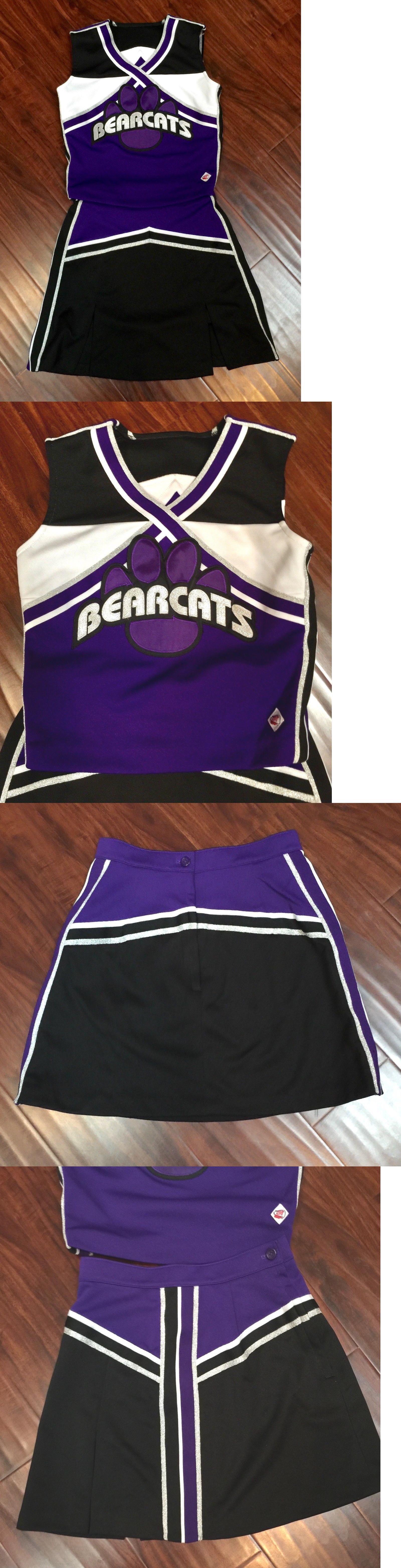 89e5f240a42 Cheerleading 66832  Varsity Cheerleader Purple Black Silver Bearcats Cheerleading  Uniform 32 24 -  BUY