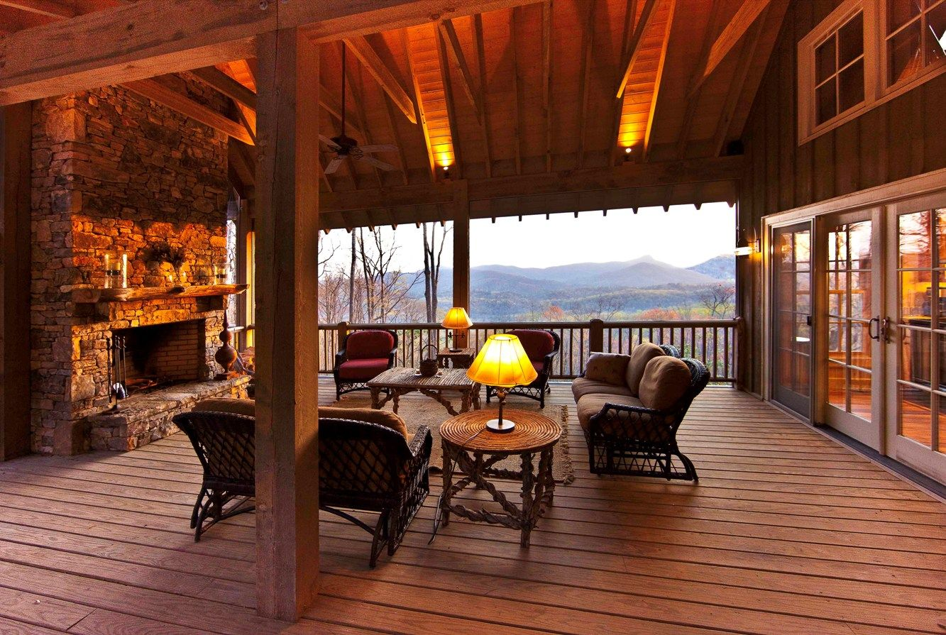 Outdoor Rooms with Fireplaces | Preserve at Rock Creek Weekend Cottage - Western North Carolina