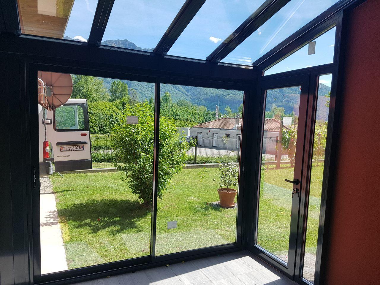 Verande Mobili ~ Veranda in alluminio a taglio termico tr200 completa di scorrevoli