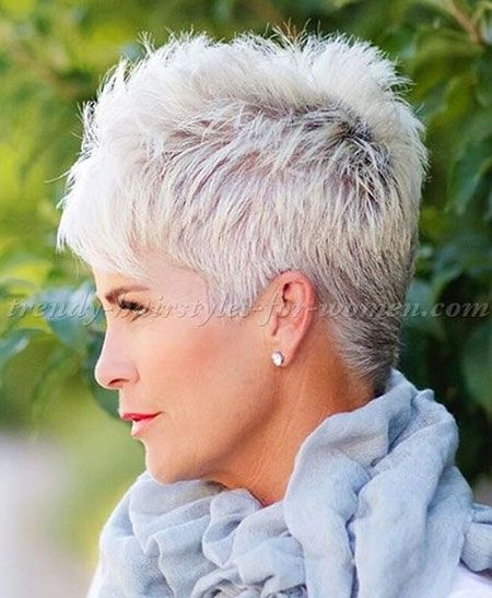 20 Great Pixie Haircuts For Women Over 50 Short Spiky Haircuts Thick Hair Styles Short Hair Styles Pixie