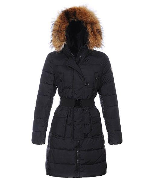 ff90364439ed moncler website - Moncler Genevrier Women Coats Hooded Long Black ...