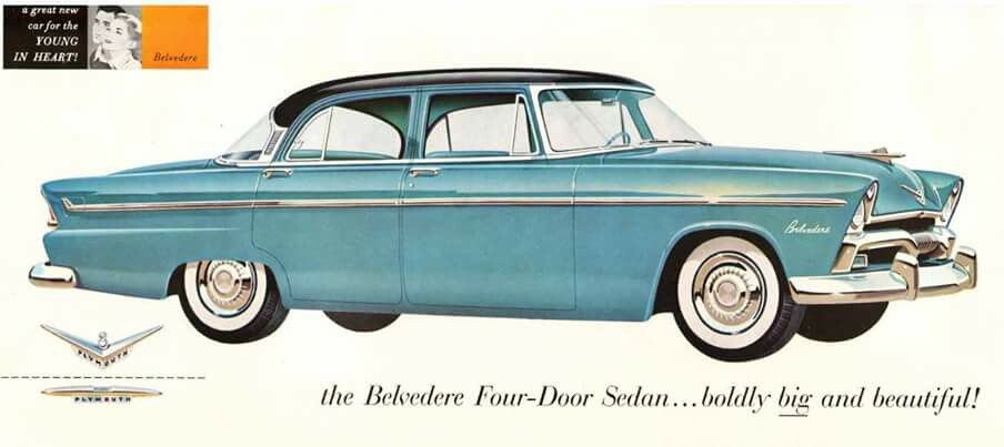 1955 plymouth belvedere advertisement s car history for 1955 plymouth belvedere 4 door sedan