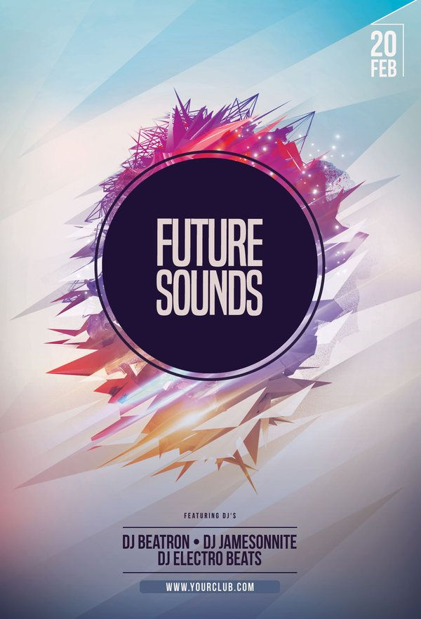 Future Sounds Flyer Pinterest Flyer Template Template And Flyer - Buy flyer templates