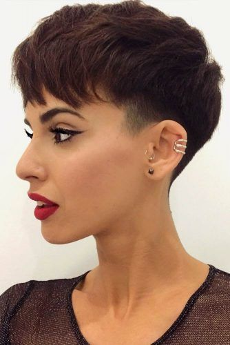 How To Tell If A Pixie Cut Will Suit You Discover The Trendiest Low Fade Haircut Ideas For Women Low Fade Haircut Pixie Haircut Fade Haircut