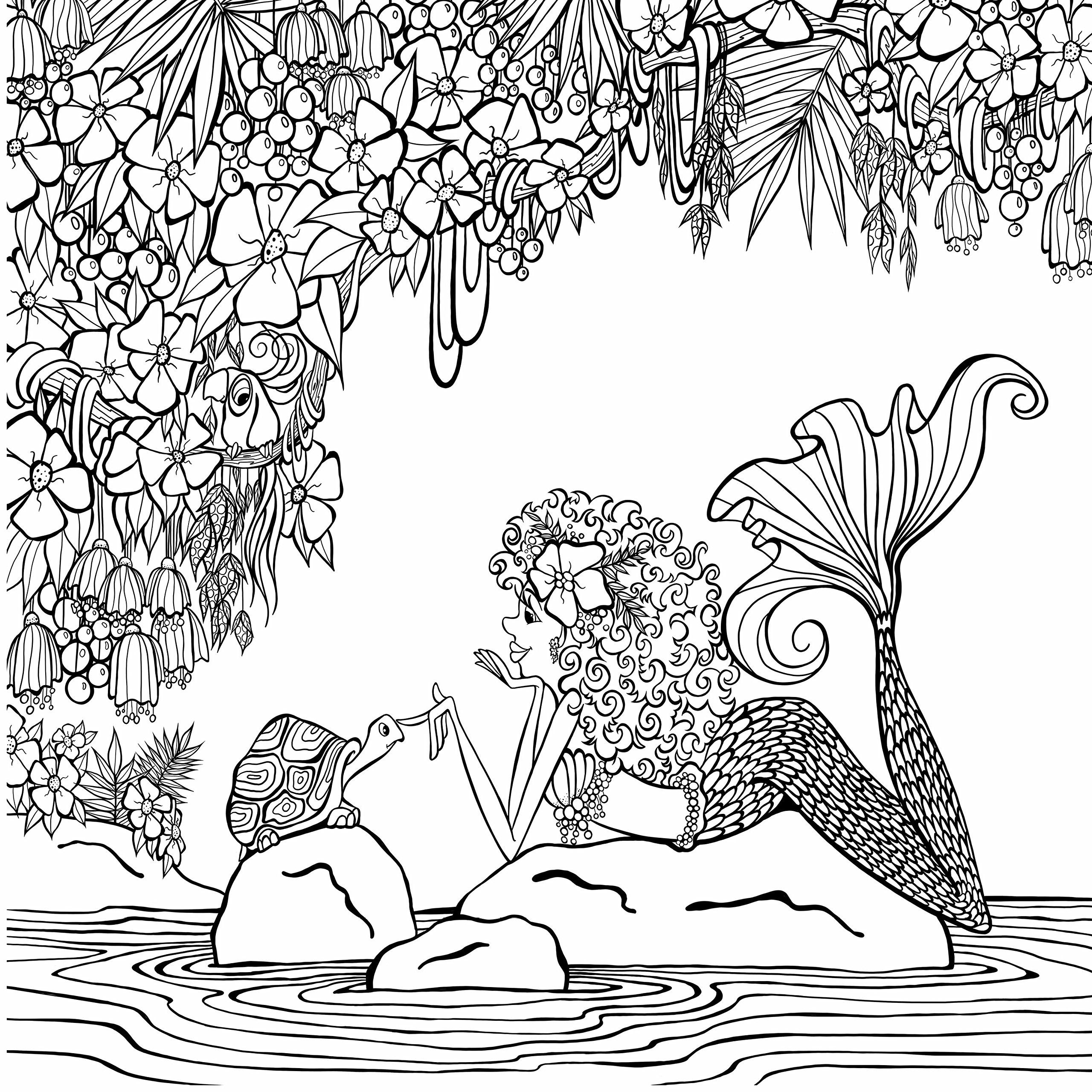 Amazon Com Zendoodle Coloring Presents Mermaids In Paradise An Artist S Coloring Book 9781250147691 Mermaid Coloring Pages Mermaid Coloring Coloring Pages