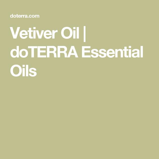 Vetiver Oil | doTERRA Essential Oils