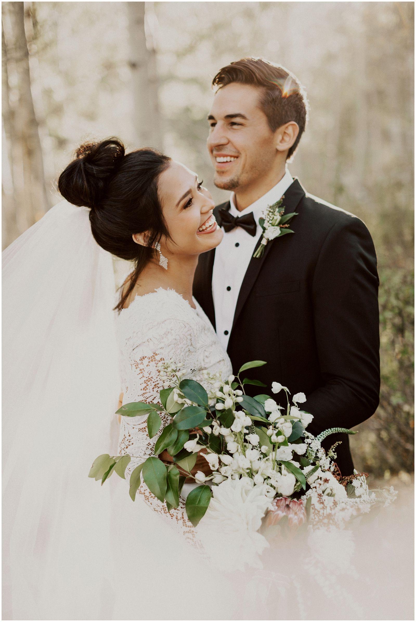 Fall outdoor wedding dresses  Autumn Mountain Bridals u India Earl Photography  Christy u Josh