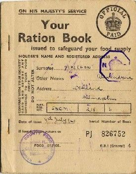 War ration book no 3