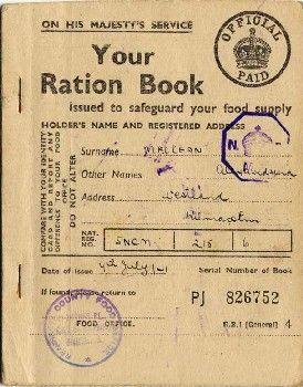 War ration book no 3