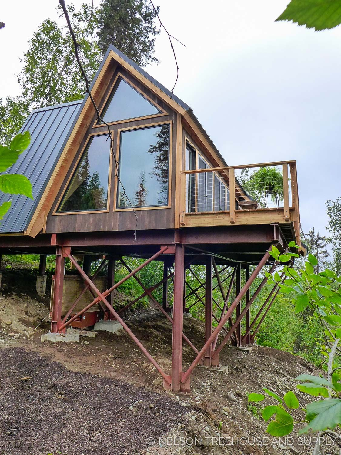A Cozy A Frame Treehouse At The Mckinley Princess