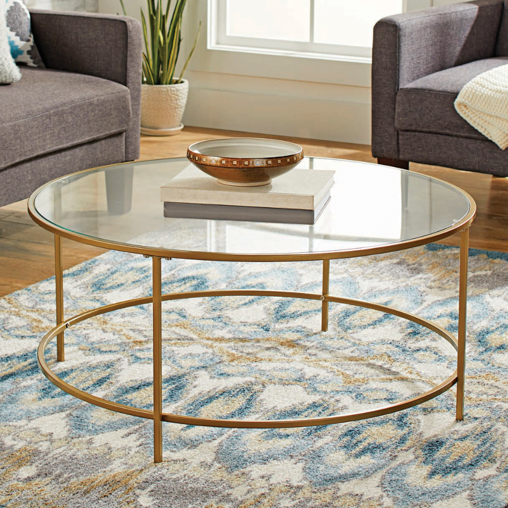 Home Gold Coffee Table Coffee Table Round Glass Coffee Table