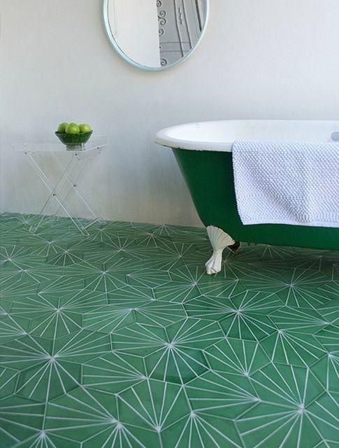 Tile Style Green Geometric Tiles Floor Inspiration