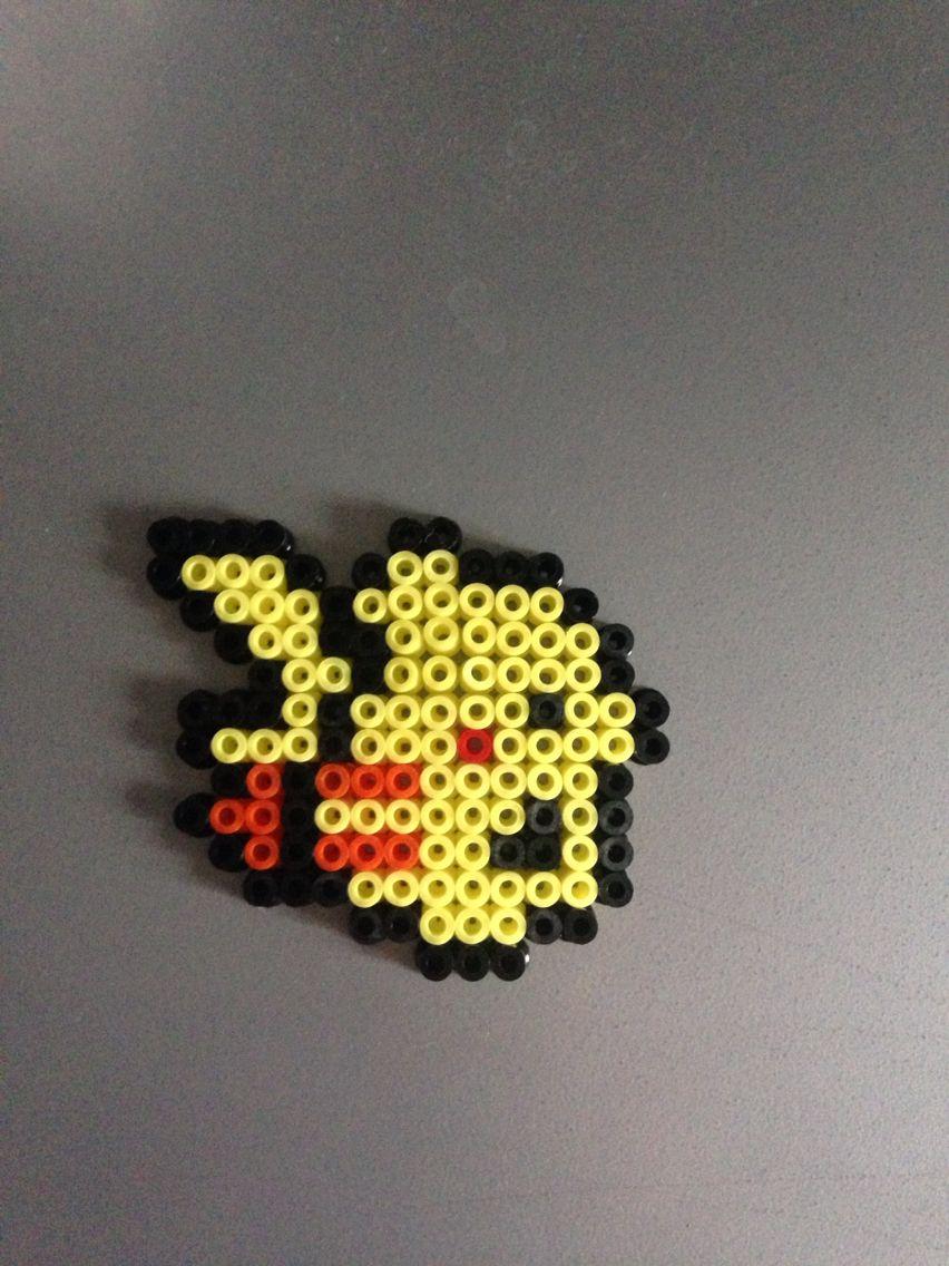 2d Pikachu Pokemon Perles Hama Perler Beads Perler