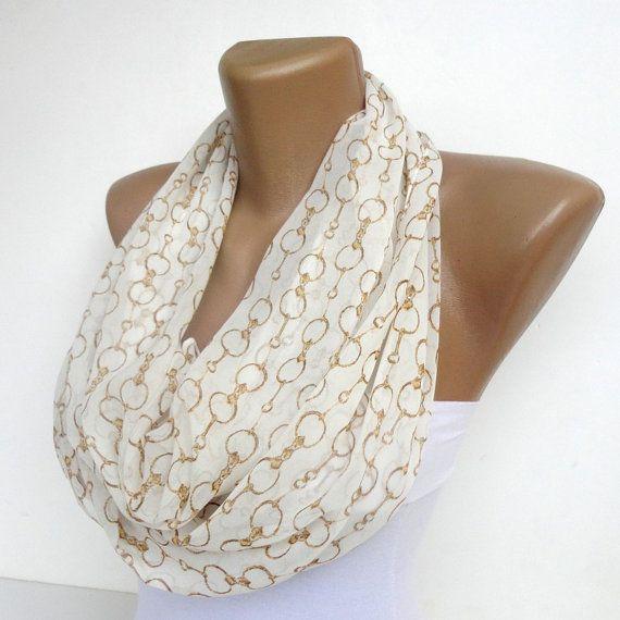 Chain scarf pattern infinity scarf eternity scarf tube by seno ...