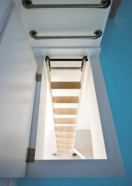 Grab Bars At The Top Of A Loft Ladder Passive House Architect House Green House Design