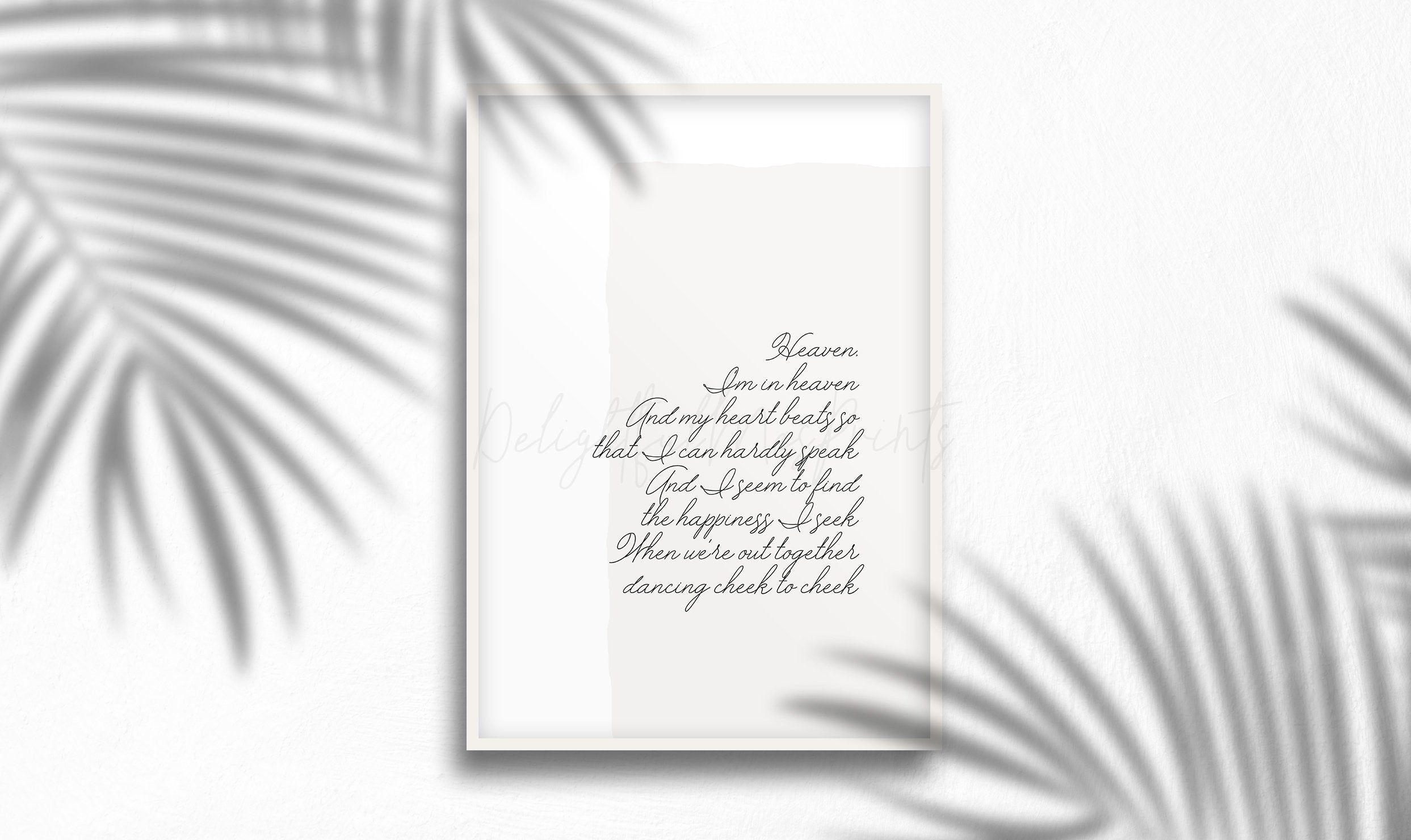 Cheek To Cheek Ella&Louis lyrics digital printable, song