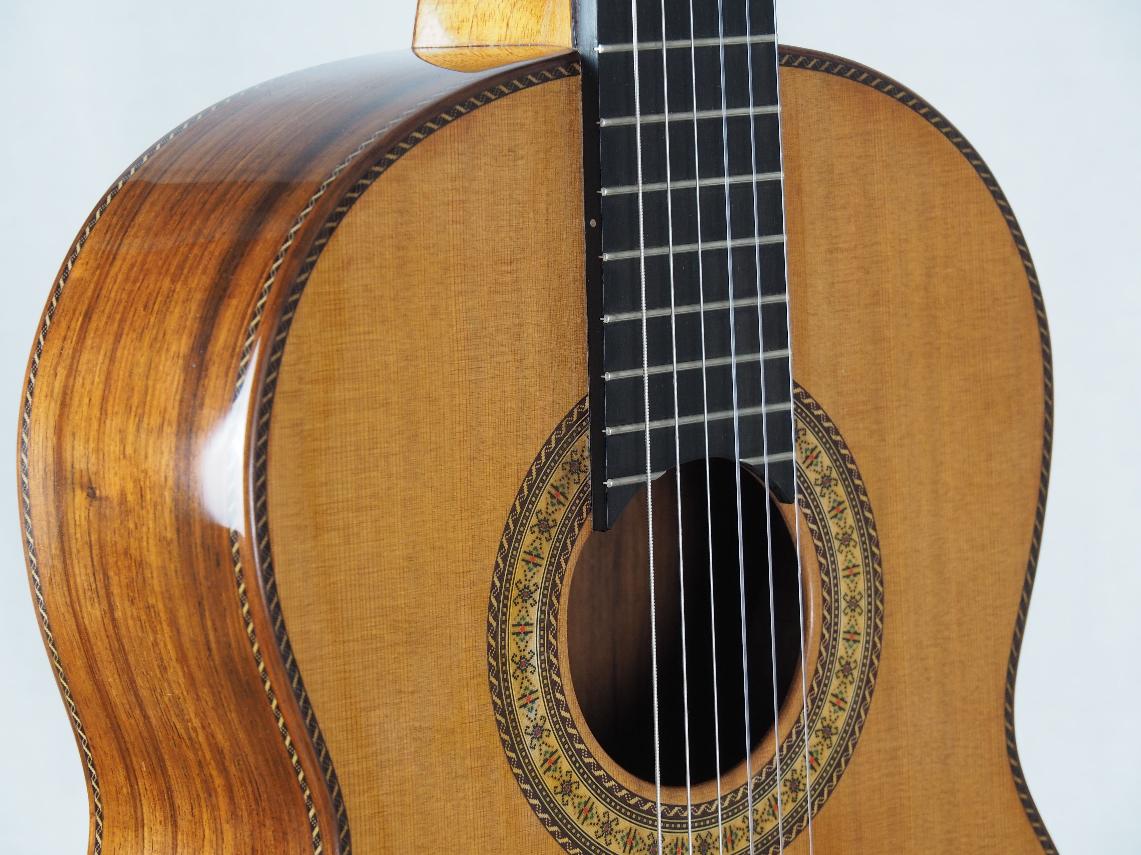 Guitare classique lattice du luthier Dieter Hopf Portentosa Evolucion Guitare classique lattice du luthier Dieter