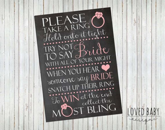 bridal shower game sign instant download 8x10 5x7 chalkboard printable bridal shower games bridal showers and bridal showers