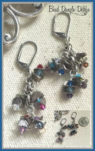 Swarovski Crystal Beaded Earrings #157