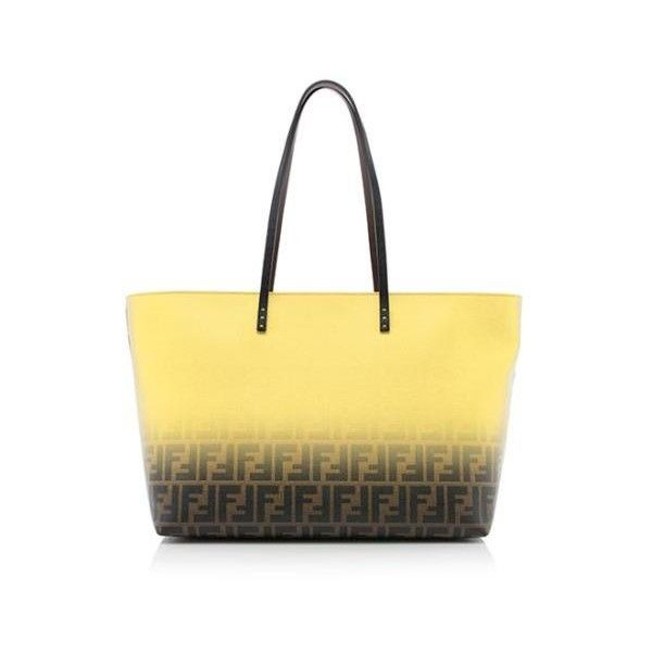 7f3bd00f8ab6 Rental Fendi Zucca Medium Roll Tote ( 150) ❤ liked on Polyvore featuring  bags