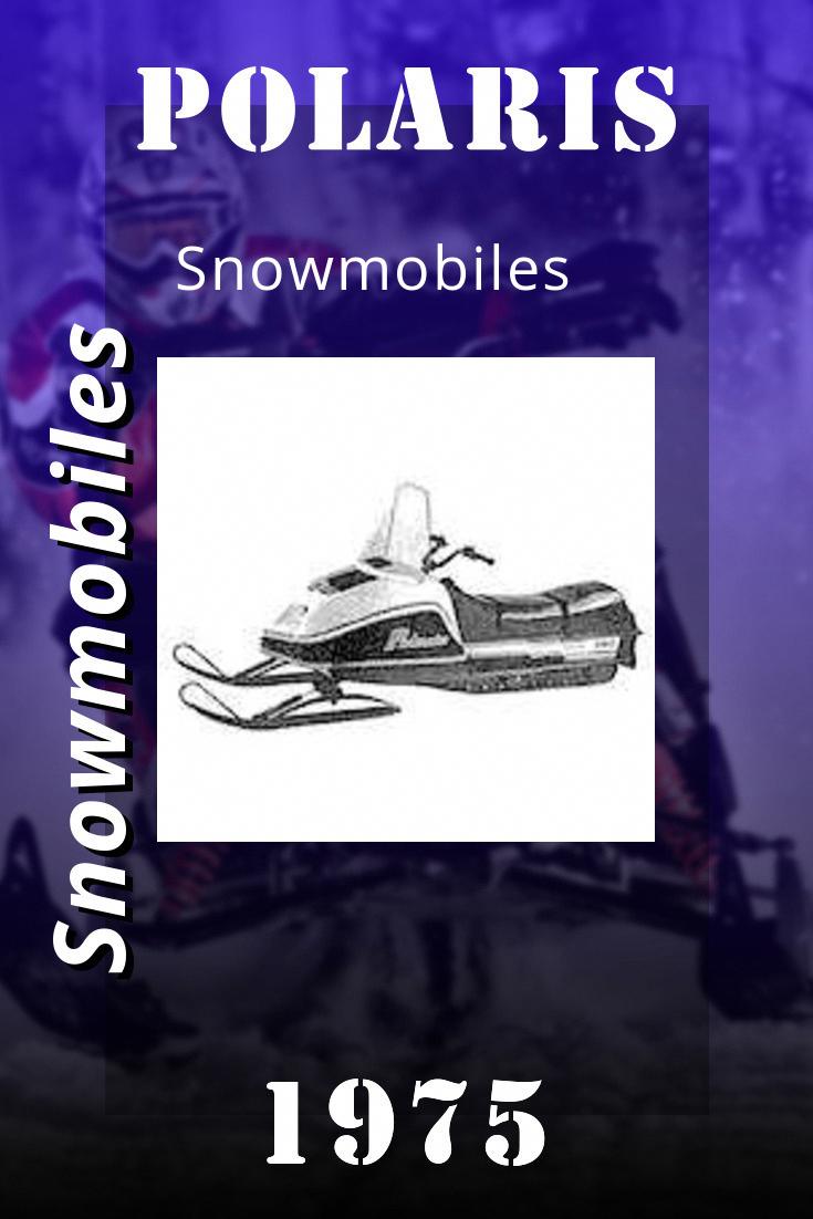 1975 Polaris Snowmobiles Master Repair Manual 9910749 In 2020 Polaris Snowmobile Repair Manuals Snowmobile