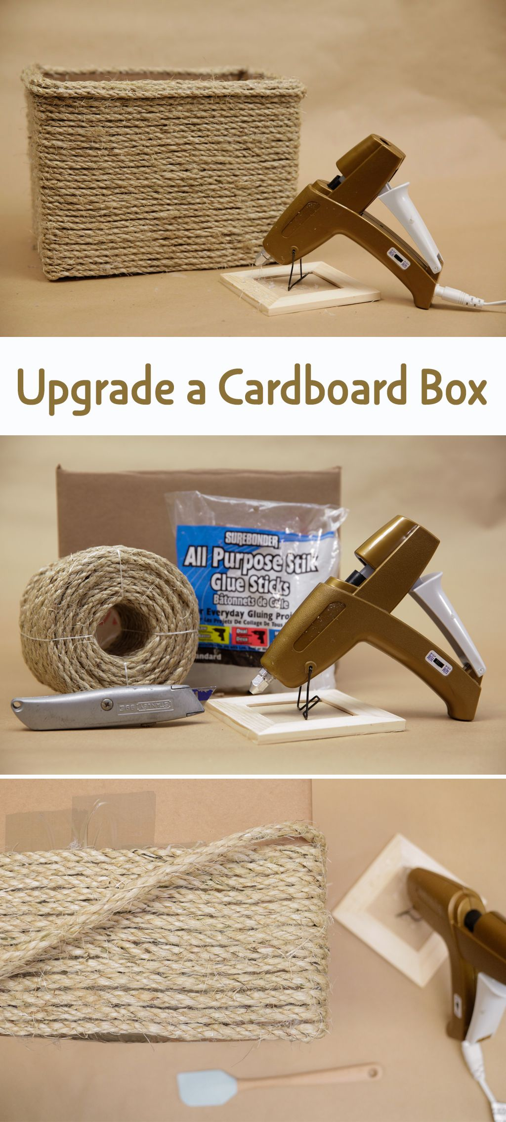 This Project Transforms An Everyday Cardboard Mailer Into A Long Term  Storage Bin That Looks Cute