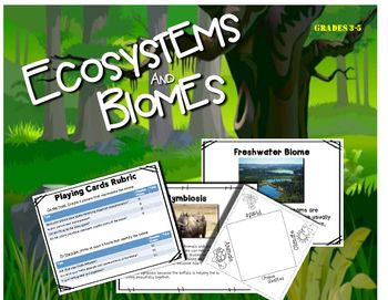 Learn about 9 Different Biomes (both Aquatic and Terrestrial) Great activities to engage students and get them thinking about the world we live in.  Students can create:- flip books- brochures- playing cards and- learn about the food chain and plant survival in each biomeThis pack includes non-fiction short passage about each of the 9 biomes as well as non-fiction piece on:- symbiosis- plant competition- animal competitionCreating the brochures helps students to get to know their biome and…