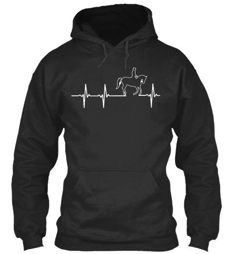 Horse In My Heartbeat!! Jet Black Sweatshirt Front