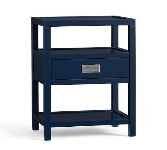 Best Pottery Barn Lonny Bedside Table In Navy Blue 22 W X 16 400 x 300