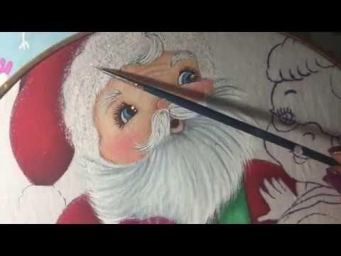 Pintura En Tela Santa Claus # 6 Con Cony - YouTube