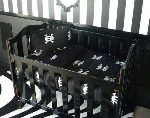 gothic baby cradle