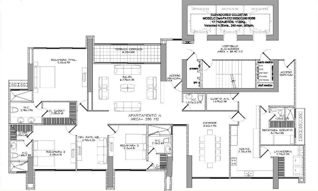 planos homes - Plan of Apartment A