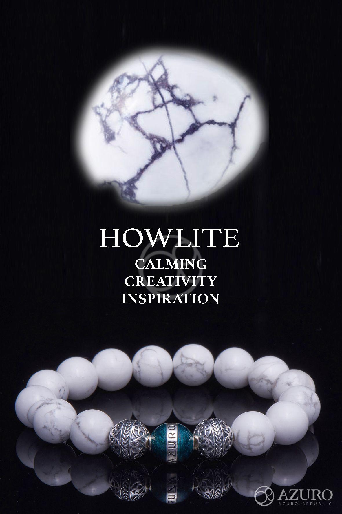 Silver Classic Howlite Healing Gemstones Jewelry Mens